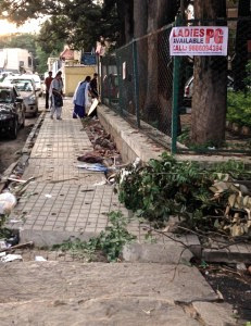 Training blind people to negotiate streets of Bangalore